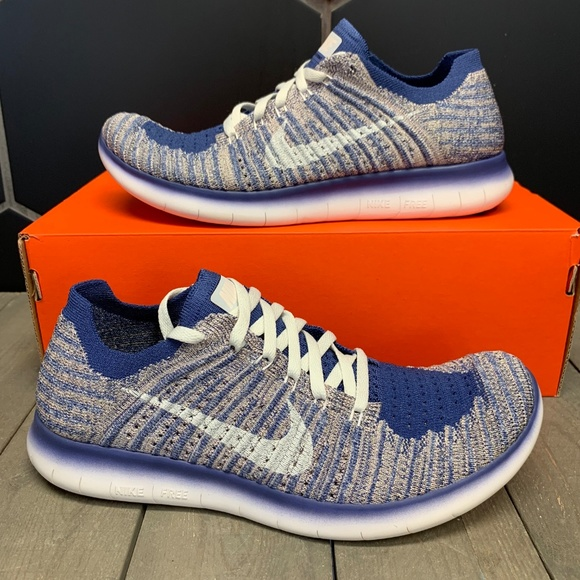 Nike Other - Nike Free Run Flyknit Dark Purple Metallic Shoe 7Y